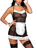 Lucyme Damen sexy Babydoll Cosplay Uniform Dienstmädchen Nachtwäsche Reizwäsche Kostüm Negligee...