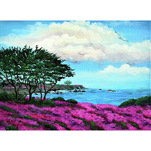 DIY Wall Painting Full Round Kit Diamond 5D Drill Tree Flower Sea Picture