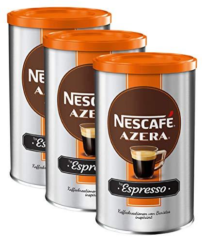 NESCAFÉ AZERA Typ Espresso, hochwertiger Instant Espresso mit feinen Arabica Kaffeebohnen, koffeinhaltig, mit samtiger Crema, 3er Pack (3 x 100g)
