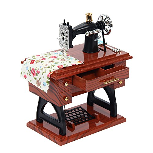 Kitchnexus Mini Music Box Vintage Simulation Máquina de coser