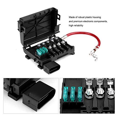 Caixa de fusíveis da bateria, porta-fusíveis da bateria, plástico para peças do carro Peças automotivas Jetta