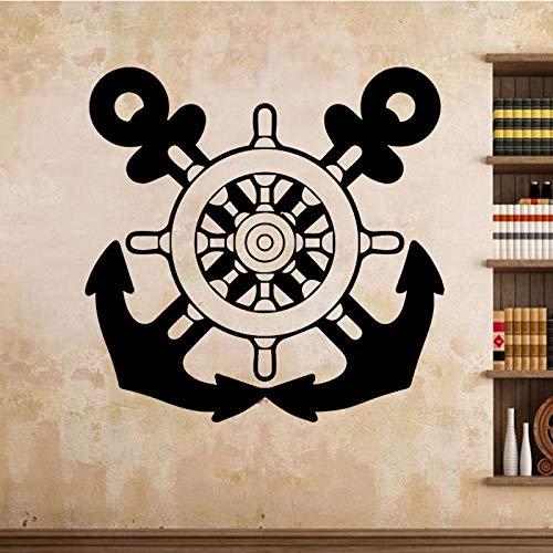Wandaufkleber für Jungen Schlafzimmer Dekoration Zwei Axt Wandtattoo Home Decor Abnehmbare Kunst Aufkleber Retro Poster Grün XL 58cm X 58cm