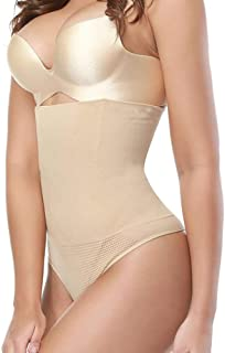 New Women High Waist Seamless Tummy Body Shaper Panties Belly Control Waist Slim Pants Shapewear Girdle Underwear Waist Trainer Znynig (Color : Beige, Size : 4XL)