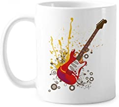 Electric Guitar Jazz Music Culture Classic Mug White Pottery Ceramic Cup With Handle 350ml Gift