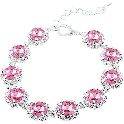 Collar de lujo con diamantes de imitación para perros pequeños y gatos, para fiestas, princesa, collar de diamantes de imitación, accesorio para mascotas-rosa_S