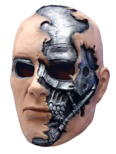 Become the T-600 in Terminator Salvation with this Official Adult Vinyl Mask