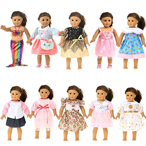 Party Zealot 10 Sets 18 in Doll Clothes for Our Generation Doll, My Generation Doll, American Girl Doll, and My Life Doll