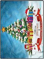 カーペット 可愛い 厚い センターラグ 160*230 クリスマスモダントレリスエリアラグベッドルームキッズルームリビングルームプレイルーム新年のテーマボックス 春夏 センターラグ抗菌 応接室