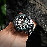 LONGSHUO Welly Merck Mercanic Mecanical Watch Men's Automatic Luminoso Moda Impermeable Moda Reloj de Cumpleaños Reloj de cumpleaños Reloj Suizo Reloj de Buceo 42mm (Color : Blue)