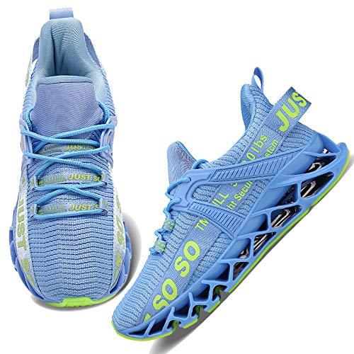 Wonesion Damen Laufschuhe Sportschuhe Straßenlaufschuhe Sneaker Damen Tennisschuhe Fitness Schuhe, 2 Light Blue, 39 EU
