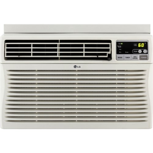 LG 24,500 BTU Eco-Friendly Window Mounted Air Conditioner, (230-Volt Plug), with 3 Cooling and 3 Speed Modes, 12-Hour On/Off Timer, Easy Clean Mesh Filter, Energy Saver Function with Eco Friendly R410A Refrigerant, Fully Functional Remote Included, Perfect for Large Size Rooms Up To 1,560 Sq. Ft.