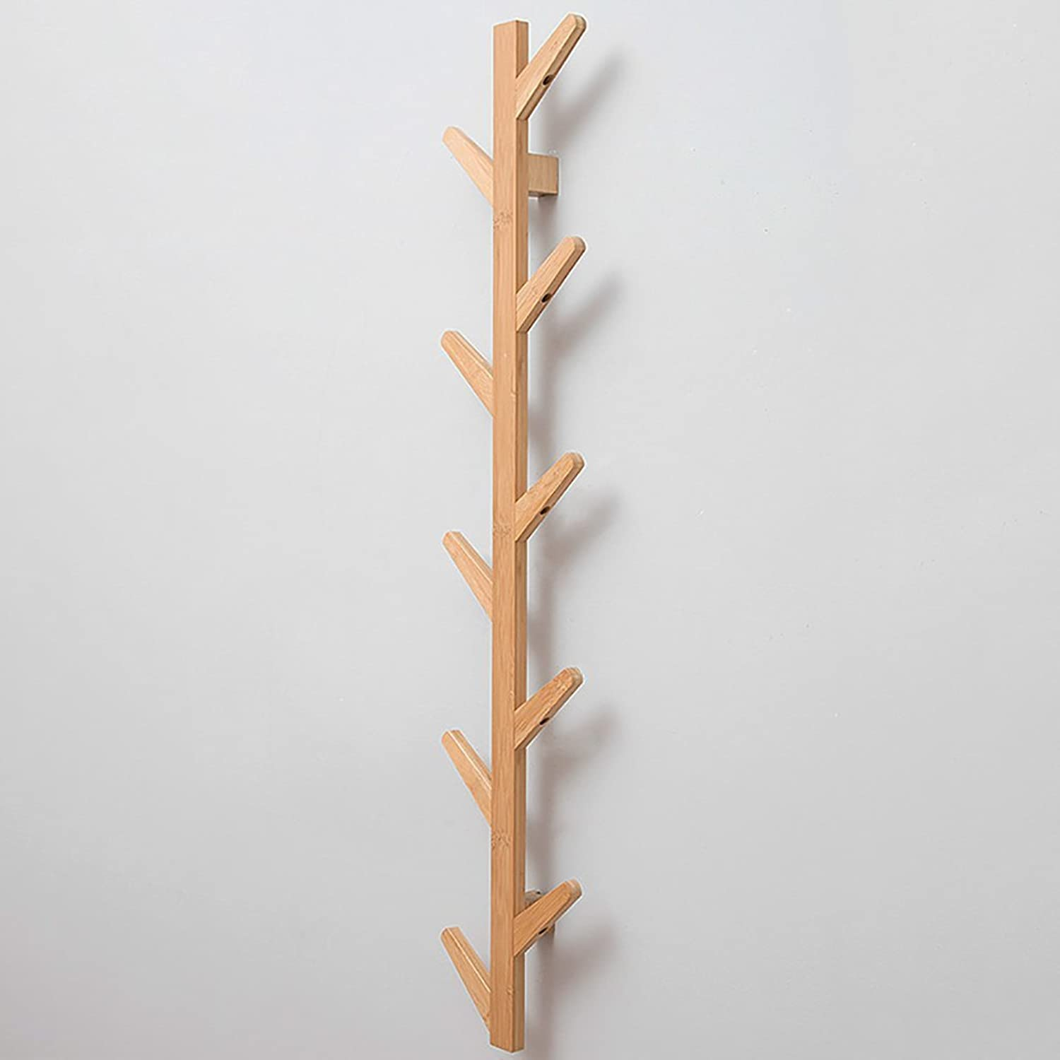 Wall Mounted Coat Rack, Wall-Hung Coat Hooks,Bedroom Living Room Entrance Simple Modern Bamboo System Wall-Mounted Coat Racks. (Size   7  24  123cm)