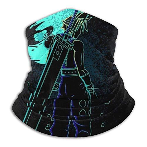 WH-CLA Face Scarf Shadow of The Meteor Final Fantasy VII Protector Solar A Prueba De Viento Bufanda Facial Sin Costuras Polaina De Cuello Multifunción Ligera Pañuelos Estampados En Polvo