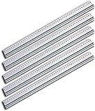 Wedo 525450 Schneidelineal aus Aluminium mit Stahlkante und rutschsicherer Gummieinlage