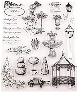 GIMITSUI Store New Clear Stamps for DIY Card Making (Garden Buildings)