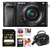 Sony Alpha a6000 Mirrorless Camera with 16-50mm Lens and Software Bundle