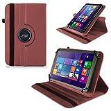 UC-Express Huawei MediaPad X2 Tasche Hülle Cover Case Tablet Schutz Schutzhülle Drehbar Bag, Farben:Braun