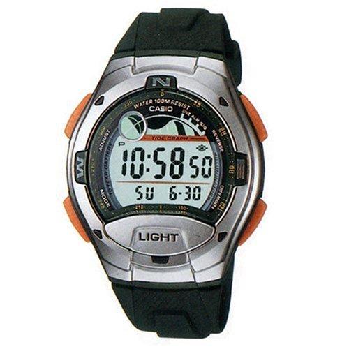 Casio W-753-3AVDF - Reloj (Reloj de Pulsera, Silicona, Acero Inoxidable, Acero Inoxidable, Silicona, Verde, Alrededor)