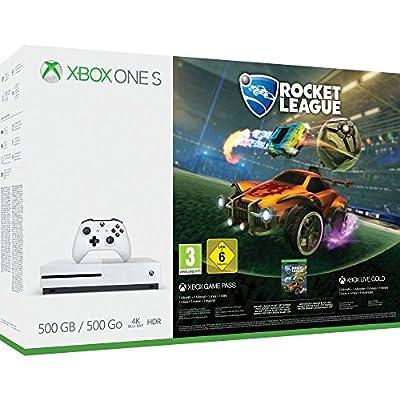 Xbox One S 500GB Console - Rocket League Blast-Off Bundle