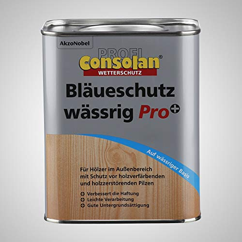 Consolan Profi Bläueschutz Holzgrundierung Holzschutz außen, wässrig, 2,5 Liter