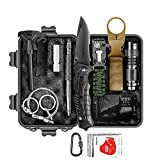 RUIJIA Survival Kit 12 in 1, Survival Gear Accessories Wise Outdoor Emergency Tactical Defense Equipment Tools, Emergency Gear for Camping, Hiking, Hunting, Climbing, Fishing, Pefect Gifts for Family