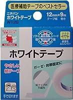 (セット販売)ニチバン ホワイトテープ 12mm×9m×20個セット