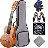 Ranch Guitalele Acoustic 28 inch Professional 6 Strings Guitar Ukulele Small Travel Classical Guitarlele Kit for Adults Beginners Pack Bundle Gig bag & Tuner & Strap & Wrench & Strings Guitarleles Set