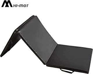 HI-MAT Thick Folding Exercise Mat with Carrying Handles for Exercise, Gymnastics and Home Gym Protective Flooring