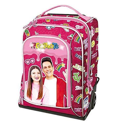 Me Contro Te Mochila escolar organizada rosa Girl con luces