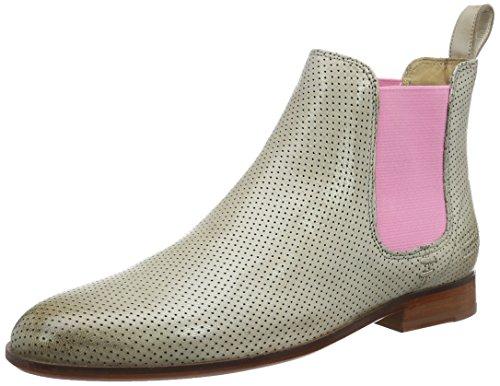 Melvin & Hamilton Damen Susan 10 Chelsea Boots, Beige (Salerno Perfo Sand Ela Rosa LS Nat.), 37 EU