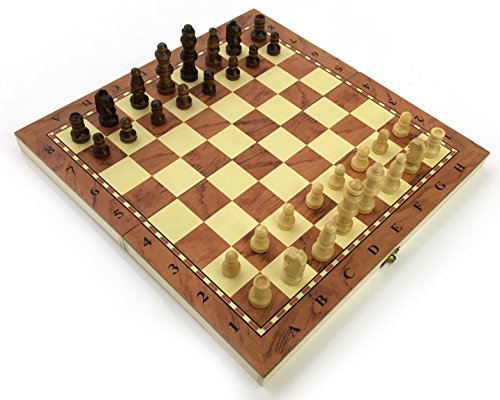 Stands Out, Supplying Outstanding Gifts Chess Set Fold Away Board Quality Handmade Wooden Pieces Complete FIDE Compliant Stimulate Your Brain Exercise Your Mind 24 cm 240 mm 10 inch