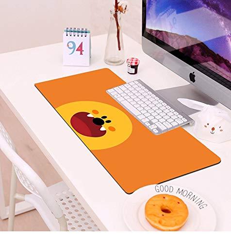 Zenghh Office-Speed-Gaming Mauspad Schreibtisch Büro Mauspad Riesen Große Größe XXL Bequeme Mousepad 70/80 / 90cm Personalisierte Strichmännchen-Blume (nette Tier rosa Schwein Pflanze Haustier)