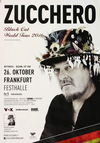 Zucchero - Black Cat, Frankfurt 2016 » Konzertplakat/Premium Poster | Live Konzert Veranstaltung | DIN A1 «