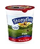 Stonyfield Farm Organic Plain Whole Milk Yogurt, 32 Ounce -- 6 per case.