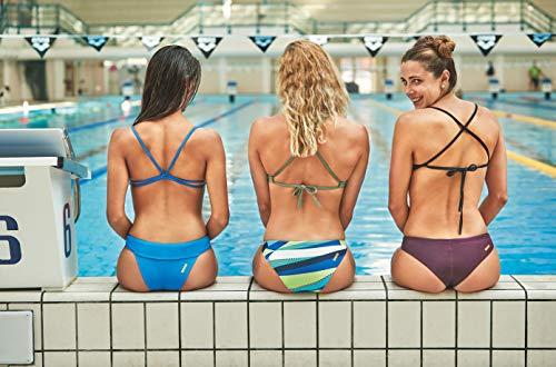 Arena Women's Standard Rulebreaker Unique Brief Bikini Bottoms Athletic Sport Swimsuit, Black, M