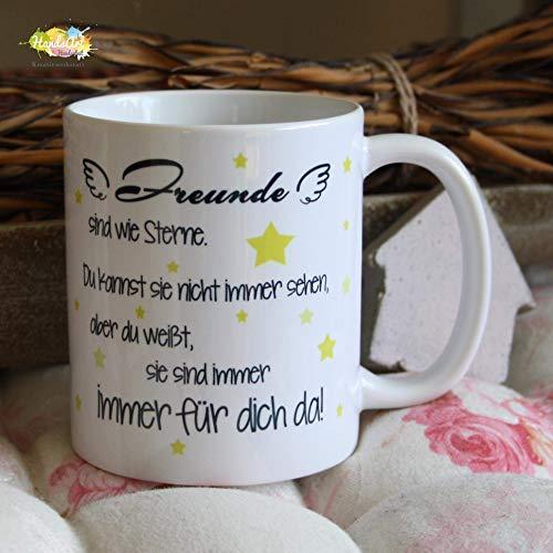 Kaffeebecher ~ Tasse - Freunde sind wie Sterne ~ Freundschaft ~ Freundin~ Valentinstag Geschenk