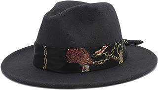 Sun Hat for men and women Fashion Winter Wool Fedora Hat For Men Women Church Jazz Hat Wide Brim Cloche Hat Fascinator Size 56-58CM