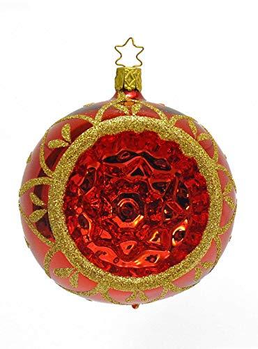 Boule en verre soufflé Collection Rouge et or cm.10