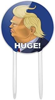 GRAPHICS & MORE Acrylic Huge! Donald Trump Caricature with Wind Blowing Hair Funny Cake Topper Party Decoration for Wedding Anniversary Birthday Graduation