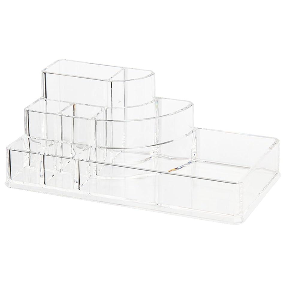 文明化するスパイ不信CUHAWUDBA オーガナイザー収納ボックス アクリル化粧ディスプレーボックス 化粧品の為のストレージ 透明