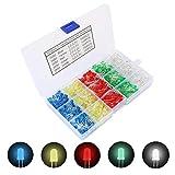 TOOHUI 500 Pezzi Diodi ad Emissione Luminosa LED Multicolore, Testa Rotonda Diodi a Led 5m...