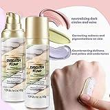 Rainbow Tricolor Makeup Base Foundation,Isolation Cream Hydrating Base Face Primer Long-Lasting Primers Concealer Full Coverage Brighten Skin Primer Long Lasting