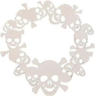 Unfinished Plywood Sugar Skull Wreath 16