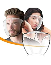 Face Cover Designed Fashion Style & Comfort, Anti-Fog Material-Transparent Glasses with Transparent Lightweight Glasses, Safety Full Face Cover