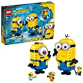 LEGO Minions: Brick-Built Minions and Their Lair (75551) Building Kit for Kids, Great Birthday Present for Kids Who Love Minion Toys and Kevin, Bob and Stuart Minion Characters, New 2020 (876 Pieces) by LEGO