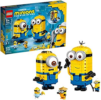 LEGO Minions Brick-Built Minions & Their Lair Minions Toy