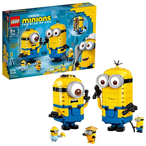 Product Image of the LEGO Minions: Brick-Built Minions and Their Lair (75551) Building Kit for Kids,...