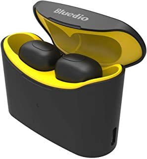 Alician T-elf TWS Bluetooth 5.0 Sports Wireless Earphones with Charging Box Yellow