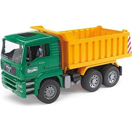 Bruder Spielwaren- Man TGA LKW mit Kippmulde Bruder Costr Camion Ribaltabile 2765, Multicolore, 837115