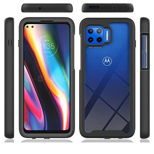 Capa XYX para Motorola One 5G, 2 em 1 híbrida rígida de policarbonato TPU (poliuretano termoplástico) macio para Motorola Moto G 5G Plus